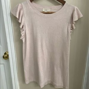 Loft Short Sleeve Women Top Dressy Shirt M